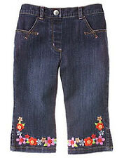 Gymboree Tea Garden Denim floral embr jeans pants NWT