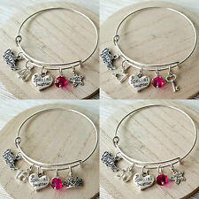 Personalised BIRTHDAY Gifts Bracelet 13th 16th 18th 21st 30th 40th -Gift for Her