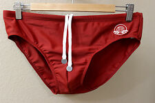 Robinson Les Bains Men Brick Red Swim Brief slip Bikini swimwear size XL