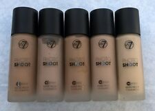 W7 Photo Shoot 16 Hour Budge Proof Foundation, 5 shades