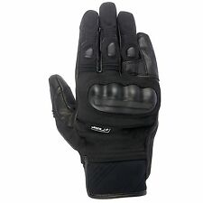Alpinestars Corozal Drystar & Leather Waterproof Motorcycle Gloves In Black