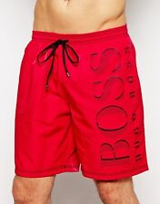 new mens HUGO BOSS KILLIFISH SWIM SHORTS in red S, M, or L   quick dry shorts