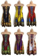 AFRICAN ETHNIC DASHIKI SUMMER DRESS, BATIK FESTIVAL TRIBAL BOHO HOLIDAY FAIRTRAD