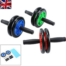 Abdominal AB Exercise  Dual ABS Wheel Roller Workout Exerciser Arm Waist Fitness