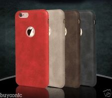Vintage Leather Ultra SLiM Back Case Cover For Apple iPhone SE 5s 6s 6s Plus