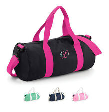 Personalised Embroidered initial holdall weekend bag overnight hospital bag, uni