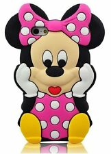 Disney Pink Minnie Mouse Gel Case For Apple iPhone SE 4 4s 5 5s 5c 6 6s + 7 iPad