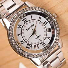 Fashion Women Men Roman Watch Stainless Steel Sport Analog Quartz Wrist Watch