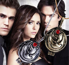 """The Vampire Diaries"" Elena Gilbert Silver/Gold Locket/Pendant & Necklace Set"