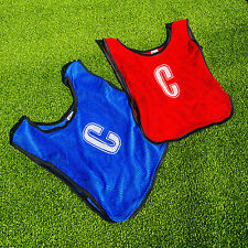 Netball Bibs [All Positions] 7 Pack Of Breathable Bibs For All Ages - Red & Blue