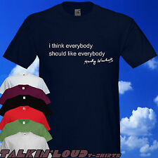 Andy Warhol - i think everybody T shirt Pop Art Studio 54 Campbell's Soup NY