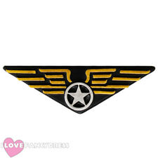 FLYING BADGE PILOT FANCY DRESS COSTUME ACCESSORY AVIATOR CAPTAIN AIR FORCE