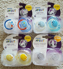 Avent Baby Soother - Night Time, Freeflow, Animal, ORTHODONTIC - 0-6M/6-18M