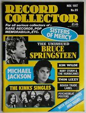 Record Collector 11/87 Bruce Springsteen Kinks Michael Jackson