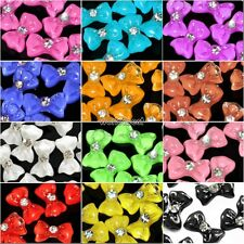 20X 3D Glitter Bow Tie Bowtie Butterfly Acrylic Slices Rhinestones Nail Art WST