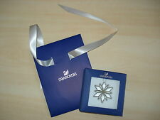 *BNIB* SWAROVSKI Christmas Ornament SILVER STAR Decoration + SWAROVSKI GIFT BAG