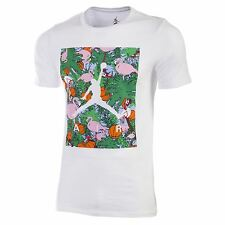 Nike Men's Jumpman Air Jordan Paradise Tee White CrewNeck SS T-Shirt 716330