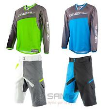 O'Neal Element FR Freeride Stormrider MTB DH Combo Mountain Bike Jersey Short