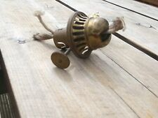 OLD OIL LAMP BRASS SHERWOOD BURNER and one other