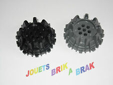 Lego roue Wheel Hard Plastic with Small Cleats , Flanges ref 64712 Choose color