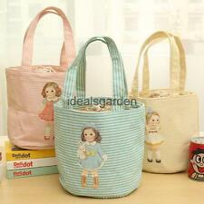 Cute Girl Doll Portable Insulated Thermal Cooler Lunch Box Picnic Bag Tote Case