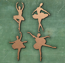 BALLERINA LARGE LASER CUT MDF WOODEN SHAPE Craft Arts Decoration Small - Large