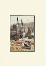 St Ives Harbour  Cornwal Riviera  Print Matt Ready to Frame 1911