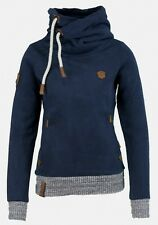 Naketano Damen Kapuzenpullover The Dark Side   Dark Blue Melange