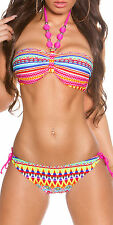 Bikini Up Swimsuit Push Bathing Swimwear Padded Sexy Womens Set Bandage Bra Suit