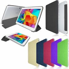 "TRIFOLD FLIP LEATHER CASE STAND COVER FOR SAMSUNG GALAXY TAB 4 10.1"" T530"