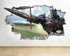 J21 Transformers Movie Kids Wall Decal Poster 3D Art Stickers Vinyl Room