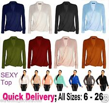 From UK Womens Summer Chiffon Casual Long Sleeve Tee T Shirts Blouse Tops WrkLn