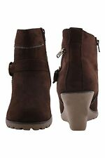 Bruno Manetti Women's Brown Suede Leather Boots (Cole-Brown)