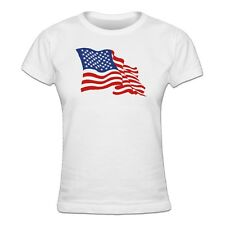 Stars And Stripes USA Flag Frauen T-Shirt