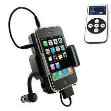 iPHONE iPOD CAR STEREO FM RADIO TRANSMITTER DOCK CHARGING MOUNT HOLDER w REMOTE