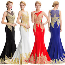 Luxury Evening Dress Mermaid Prom Bridesmaid Party Wedding Ball Gown Cocktail