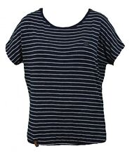 Naketano Damen T-Shirt Striped Girl II Dark Blue