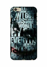 Joker Quotes Designer 3D Printed Mobile Back Cover for iphone,Moto,Xiaomi,Sam
