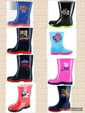 BNWT WELLINGTON BOOTS KIDS CHARACTER WELLY WELLIES GIRL BOY SIZE Infant 4-UK 1