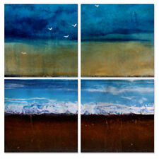 All My Walls Freedom Sky by Toni Grote 4 Piece Original Painting Set