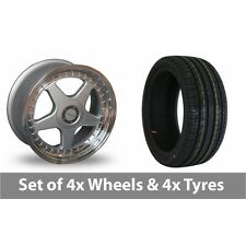 """4 x 17"""" Dare F5 Silver Alloy Wheel Rims and Tyres -  215/40/17"""