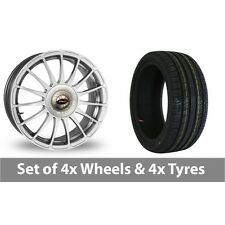 """4 x 17"""" Team Dynamics Monza R Alloy Wheel Rims and Tyres -  215/55/17"""