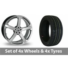 """4 x 19"""" Team Dynamics Jade R Smooth Alloy Wheel Rims and Tyres -  235/40/19"""