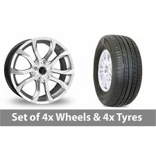 """4 x 19"""" Wolfrace Assassin Silver Alloy Wheel Rims and Tyres -  255/50/19"""