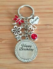 Personalised BIRTHDAY Gifts Keyrings 13th 16th 18th 21st 30th 40th 50th 70th