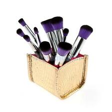 10pc Make Up Powder Foundation Contour Blush Brushes Set Kabuki Tool with Holder