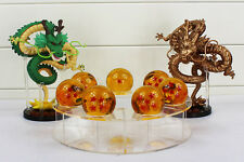 DRAGON BALL/SET DRAGON SHENRON+ 7 BOLAS 3,5 CM+ESTANTE( GOLD & GREEN) NO BOX