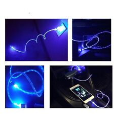 2 Blue led lights Data USB Charging Cable For Apple Iphone 6S Samsung Galaxy LG