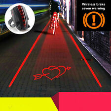 2 Laser+5 LED Rear Bike Bicycle Safety Tail Light Beam Safety Warning Red Lamp