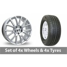 """4 x 19"""" Tekno RX7 Silver Alloy Wheel Rims and Tyres -  255/50/19"""